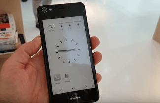 ברצלונה 2017: חברת Hisense מציגה סמארטפון עם שני מסכים; צפו בהדגמה