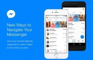 אפליקציית מסנג'ר של פייסבוק משתדרגת עם שילוב כרטיסיות במסך הבית