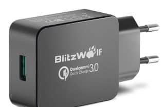 מטען BlitzWolf עם תמיכה בטעינה מהירה במחיר מבצע כולל קופון!