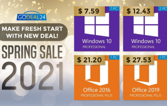 דיל אביב: Windows 10 Pro רק ב- 7.59 דולרים והנחות ענק עד 62 אחוזים
