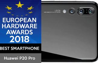 """כבוד: Huawei P20 Pro זכה בתואר סמארטפון השנה 2018 ע""""י ארגון ה-EHA"""