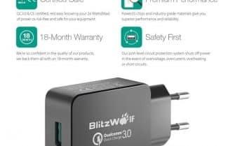 מטען קיר של חברת BlitzWolf עם תמיכה ב-QC 3.0 – במחיר מבצע!