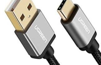 כבל סנכרון וטעינה USB-C באורך 2 מטרים של UGREEN במחיר מבצע