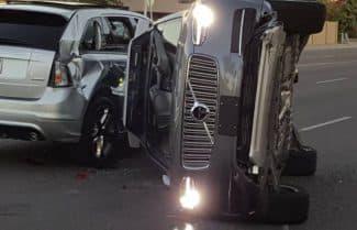 הרכב האוטונומי של Uber היה מעורב בתאונת דרכים באריזונה