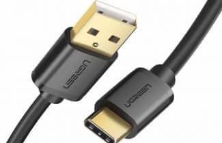כבל סנכרון וטעינה  USB-C מבית UGREEN בגדלים שונים – במחיר מבצע!
