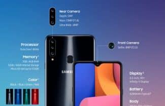 סמסונג מכריזה על ה-Galaxy A20s עם מסך 6.5 אינץ' וסוללת 4,000mAh