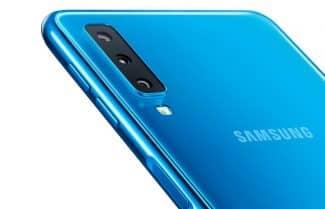 הוכרז: סמסונג Galaxy A7 2018 – שלוש מצלמות מאחור, חיישן טביעת אצבע בצד
