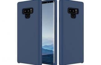 כיסוי חושף את חלקו האחורי והקדמי של ה-Galaxy Note 9