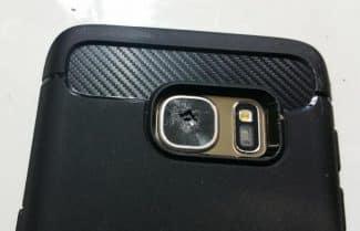 עדשת המצלמה האחורית ב-Galaxy S7 מתנפצת באופן מסתורי