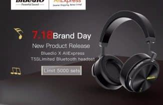 אוזניות אלחוטיות Bluedio T5S מהדורה מוגבלת – במחיר מיוחד!