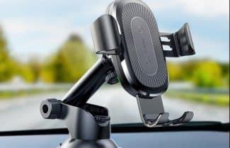 זרוע לרכב עם תמיכה בטעינה אלחוטית – במחיר מעולה!