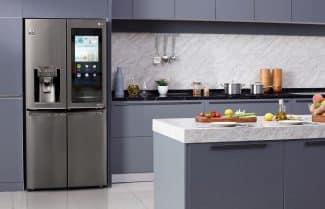 המקרר החדש של LG ינהל את המלאי בתוכו ע״י בינה מלאכותית