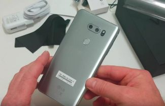 ג'ירפה פותחת קופסה: LG V30