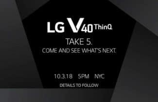 פתחו יומנים: LG V40 ThinQ יוכרז ב-3 לאוקטובר