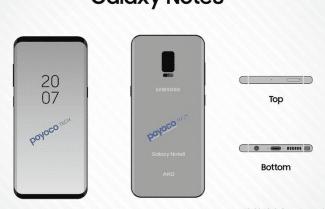 תרשים חדש שהודלף לרשת מציג לכאורה את ה-Galaxy Note 8