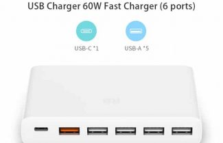 מפצל 6 שקעי USB כולל תמיכה בטעינה מהירה מבית שיאומי במחיר מבצע!