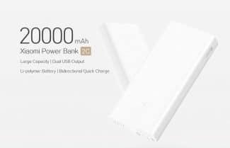 סוללה ניידת 20,000mAh מבית שיאומי עם תמיכה בטעינה מהירה + מתנה