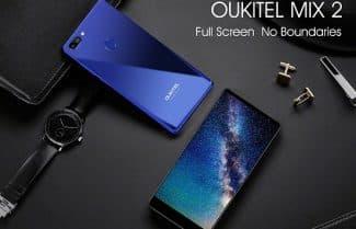 סמארטפון Oukitel MIX 2 ללא שוליים, עכשיו במחיר מבצע!