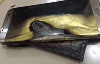 צרות בצרורות: דיווח בסין על Galaxy S7 Edge שנשרף בזמן טעינה