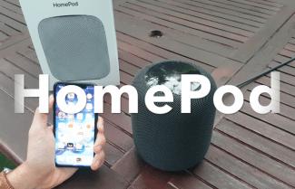 ג'ירפה פותחת קופסה: Apple HomePod