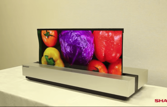 לא רק LG: חברת SHARP חשפה טלוויזיה עם מסך מתקפל