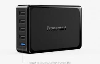 מטען שולחני Tronsmart חמש יציאות, כולל טעינה מהירה – במחיר מעולה!