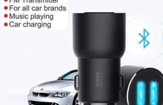 מטען כפול לרכב כולל Bluetooth מבית שיאומי – במחיר מיוחד!