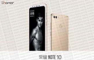 לא רק שיאומי: Honor Note 10 יוכרז בקרוב עם מסך 6.9 אינץ'