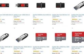 """מוצר היום באמזון ארה""""ב: מגוון התקני זיכרון מבית SanDisk – עד 20 אחוזי הנחה!"""