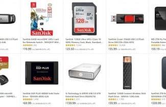 """אמזון ארה""""ב: כרטיסי זיכרון ומוצרי אחסון מבית SanDisk בהנחות ענק!"""
