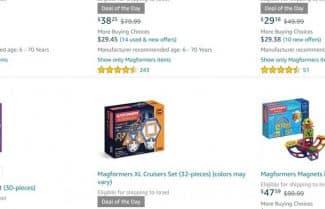 """מוצר היום באמזון ארה""""ב: מגוון צעצועים מגנטיים לילדים מבית Magformers"""