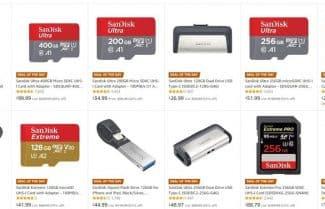 """אמזון ארה""""ב: כרטיסי זיכרון ומוצרי אחסון מבית SanDisk ו-WD בהנחות ענק!"""