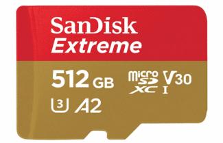 """אמזון ארה""""ב: כרטיס זיכרון 512 גיגה בייט מבית SanDisk במחיר מבצע!"""