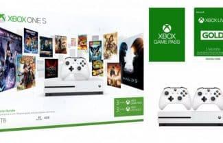 קונסולת משחקים Xbox One S בנפח 1TB + שני שלטים + הטבות במחיר מעולה!