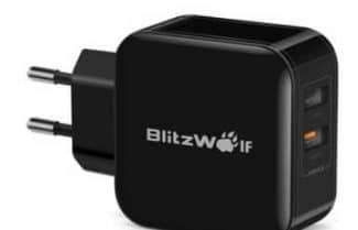 שקע טעינה משולש מבית BlitzWolf כולל תמיכה בטעינה מהירה – במחיר מעולה!
