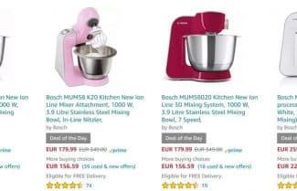אמזון גרמניה: מבחר מיקסרים מבית Bosch במחירים אטרקטיביים