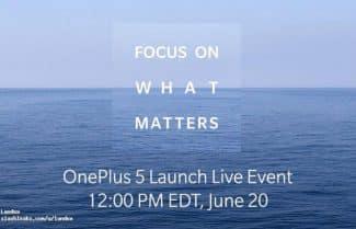 סופית: OnePlus תחשוף את ה-OnePlus 5 באירוע שיתקיים ב-20 ביוני