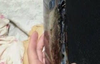 מכשיר לוהט: Galaxy Note 7 התלקח ונשרף כליל בזמן טעינה. צפו בתמונות