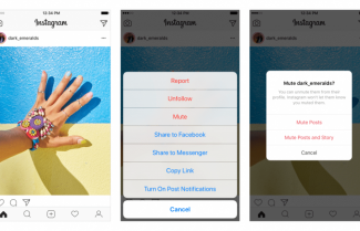 אינסטגרם מוסיפה מצב 'השתקה' לפוסטים או סטוריז של עוקבים