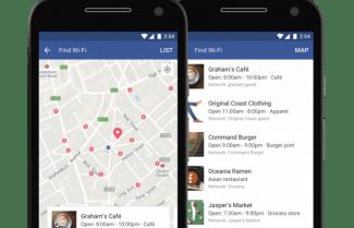 פייסבוק מרחיבה את השימוש לאיתור רשת אלחוטית חינמית קרובה