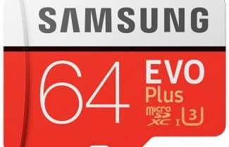 כרטיס זיכרון בנפח 64GB מבית סמסונג תומך Class 10 – הסדרה הכתומה