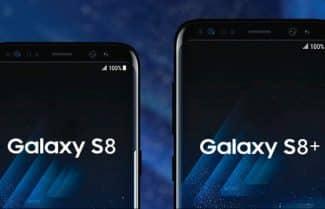 תרשימים מציגים השוואת גודל בין Galaxy S8 ו-S8 Plus למכשירים אחרים