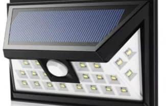 תאורה סולארית לגינה עם חיישן תנועה ו-24 נורות LED