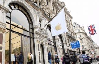 חנות הדגל של אפל ב-Regent Street נשדדה על ידי כנופיית אופנוענים