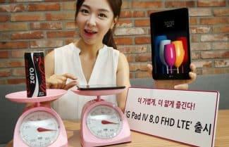 הוכרז: LG G Pad IV – טאבלט 8 אינץ' קל משקל; המחיר 305 דולרים
