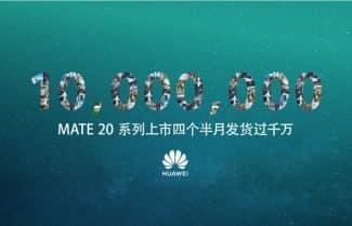 וואווי חוגגת 10 מיליון מכשירי Huawei Mate 20 שנמכרו בשוק הסיני