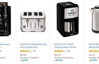 """אמזון ארה""""ב: מכונות קפה ומוצרים למטבח מבית KRUPS בהנחות ענק"""