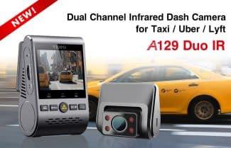 מצלמת רכב כפולה VIOFO A129 IR Duo במחיר מעולה כולל קופון וביטוח מס!