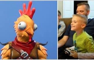 פורטנייט: ילד שעיצב סקין למשחק זוכה לראות אותו לראשונה – צפו בוידאו