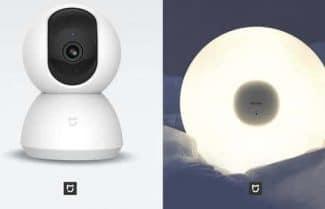 שיאומי משיקה מצלמת מעקב 360 מעלות ומנורת תקרה חכמה